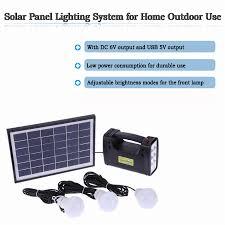 Outdoor Solar Panel Lights - outdoor solar powered led lighting system light lamp 3 bulb solar