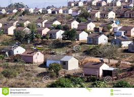 low cost township houses in durban south africa editorial stock