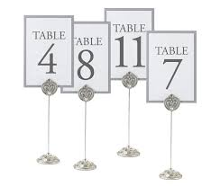 wedding table number holders wedding table number stands jeweled table markers wedding