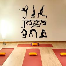Yoga Home Decor by Yoga Wall Decal Vinyl Sticker Yoga Studio Decor Fitness Exercises