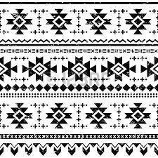tribal aztec geometric pattern or print in circle folk royalty