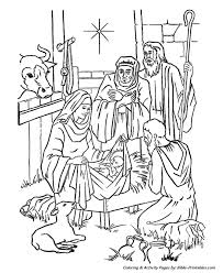christmas story coloring pages baby jesus manger