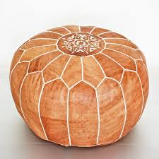 Leather Moroccan Ottoman by Moroccan Pouf Eastsacflorist Home And Design