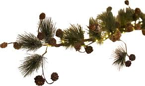 plow hearth lighted pine cone garland reviews wayfair