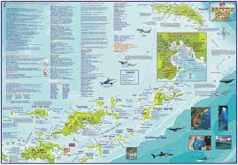 Map Of The Virgin Islands British Virgin Islands Bvi Dive Map Laminated Poster By Franko