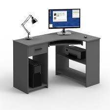 B O Schreibtisch Holz Eckschreibtisch Mit Tastaturauszug Schreibtisch Computer Winkel Pc