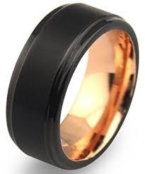 matte black mens wedding bands ezreal 8mm black tungsten carbide mens wedding bands with matte