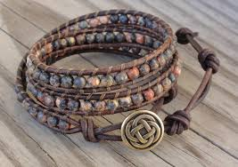 leather bracelet wrap make images Millie 39 s girls leather wrapped bracelets jpg