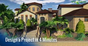design a hardscape and professional landscape project in only 4