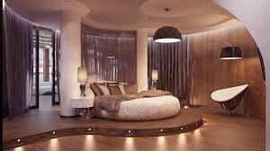 futuristic bedroom round bed interior design ideas