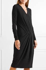 marlene birger by malene birger willos wrap effect stretch crepe dress net a