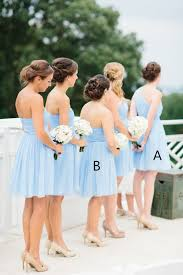 cheap light blue bridesmaid dresses 2016 light sky blue simple cheap short pretty bridesmaid dresses