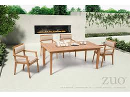 Zuo Outdoor Furniture by Zuo Outdoor Nautical Teak 70 90 X 39 40 Rectangular Dining Table