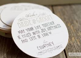 wedding coasters free wedding wishes coaster printable the elli