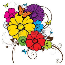 flowers and butterflies clipart free clip free
