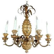 Pineapple Sconce Vintage Pineapple Chandelier C 1940s At 1stdibs