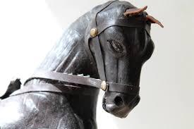boho gypsy home decor boho vintage leather horse desk statue dark horse gypsy
