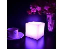 changing color led l or table light centerpieces cube