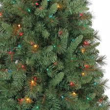pre lit christmas trees prelit layered platinum frasier fir