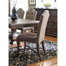 cordovan brown tufted dining room chair lucca rc willey tufted