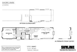 Park Model Floor Plans by Skyline Homes Of San Jacinto