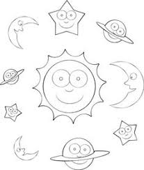 color number outer space preschool colors number worksheets