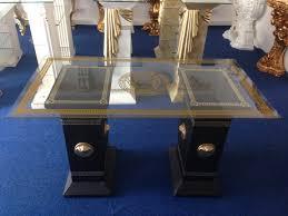 Wohnzimmer Tisch Medusa Mäander Designer Tisch Wohnzimmer Tisch Schwarz Gold Deko