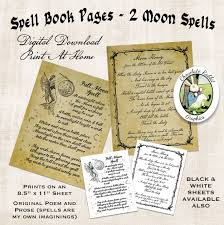Halloween Witch Poem Spell Book Pages Halloween Witch Book Of Shadows Digital Download