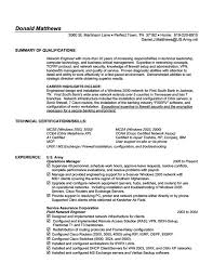Network Engineer Resume Template Technology Resume Template Entry Level Information Technology
