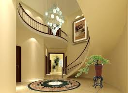 Artwork Staircase Design With Banister Rail Using Wooden Handle