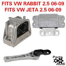vw rabbit jetta w 2 5 engine transmission mount set kit 2 5l