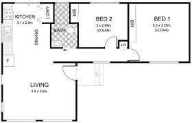 Two Bedroom Granny Flat Floor Plans Complete Granny Flat Builders Sydney