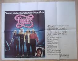 cherie futura foxes originale poster jodie foster cherie currie