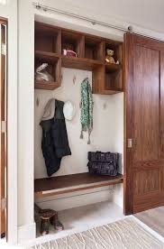 coat closet ideas hall contemporary with sliding barn door