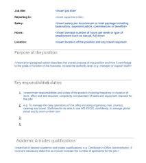 construction administrator job description subway job description