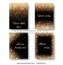 Glitter Christmas Decorations by Set Glitter Background Glowing Lights Golden Stock Vector