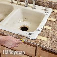 How To Measure Kitchen Sink by Replace A Sink Family Handyman