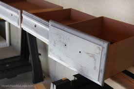 Chalk Paint Desk by Distressed Chalk Paint Desk Makeover How To Nest For Less