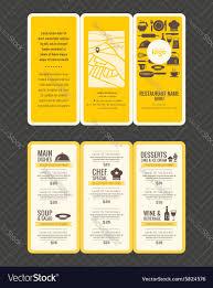 modern restaurant menu design pamphlet royalty free vector