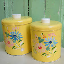 vintage canisters for kitchen 22 best vintage kitchen canisters images on kitchen