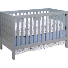 Grey Convertible Cribs Baby Mod Modena 3 In 1 Convertible Crib Gray Walmart