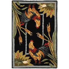 Rooster Rugs For The Kitchen Amazon Com Safavieh Chelsea Collection Hk56c Hand Hooked Burgundy
