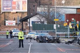 passenger killed as bmw being chased by police in liverpool