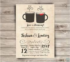 couples wedding shower invitations coffee shop wedding shower invitations rustic simple bridal