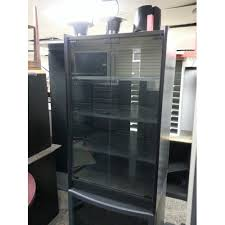 Stereo Cabinet Glass Door Black Stereo Cabinet With Glass Doors Allsold Ca Buy Sell