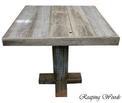Rustic Bar Table Amazing Rustic Bar Table Sosfund Regarding Reclaimed Wood Pub For