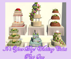 wedding cake the sims 4 mod the sims it s your day set one of 6 delicious wedding cakes