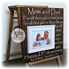 anniversary gifts for 25th anniversary gifts for parents silver anniversary