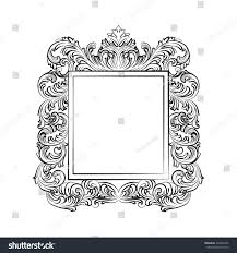 exquisite baroque rococo mirror frame vector stock vector