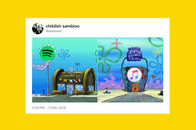 Me Me Images - the krusty krab chum bucket rivalry spongebob meme explained